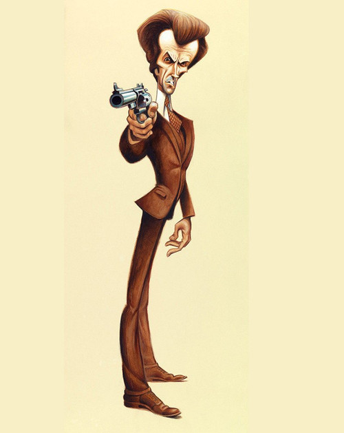 """David O'Keefe - Feeling Lucky? Tribute to Dirty Harry 8""""x22"""" Print"""
