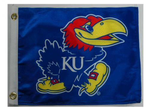 Bag Boy: Collegiate 11' x 14' Golf Cart Flag - Kansas Jayhawks