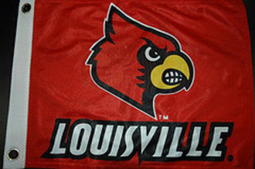Bag Boy: Collegiate 12' x 18' Golf Cart Flag - Louisville Cardinals