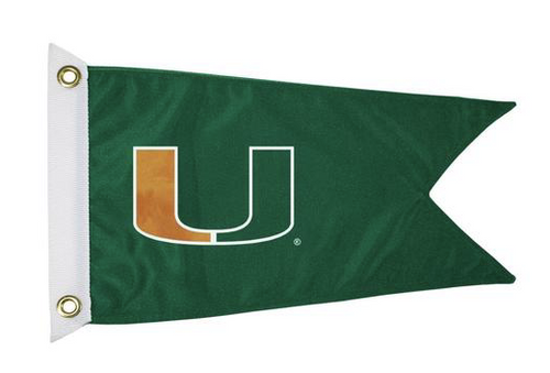 Bag Boy: Collegiate 12' x 18' Golf Cart Flag - Miami Hurricanes