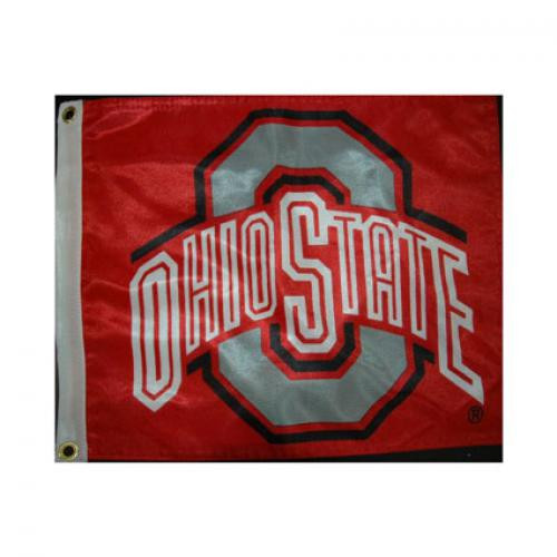 Bag Boy: Collegiate 12' x 15' Golf Cart Flag - Ohio State Buckeyes