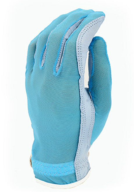 Evertan: Women's Tan Through Golf Glove - Fantasia Blue