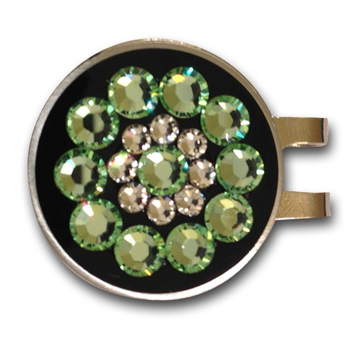 Blingo Ball Markers: Green on Black