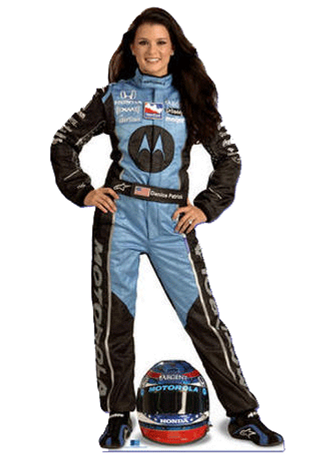 Team Image: Miniature Cardboard Cutout - Danica Patrick  Motorola with Helmet On the Ground