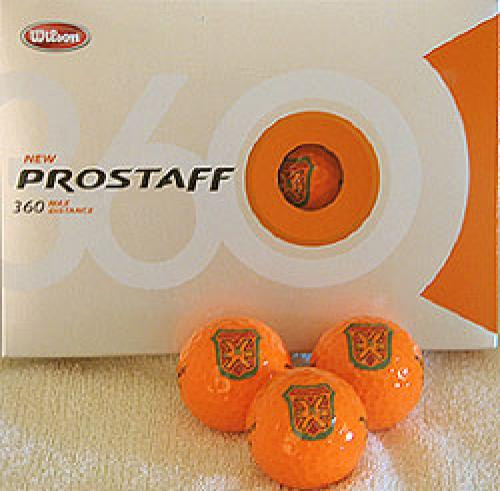 Bushwood Country Club Logoed Golf Balls (1 Dozen) -Orange