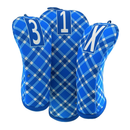 BeeJo's: Golf Headcover - Blue Skies Plaid Golf