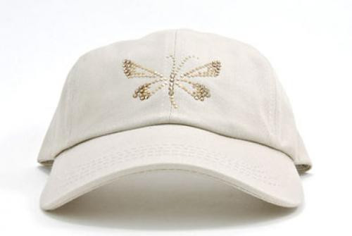 Dolly Mama: Ladies Baseball Hat - Butterfly on Stone