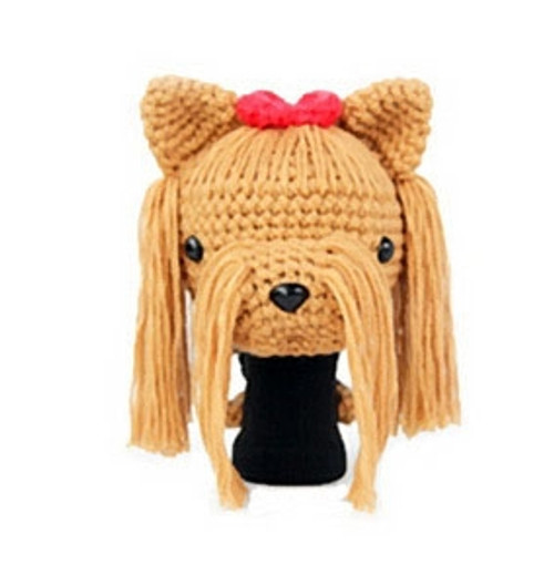 Amimono Animal Golf Driver Headcover - Light Brown/Red Terrier Dog (D022-A)