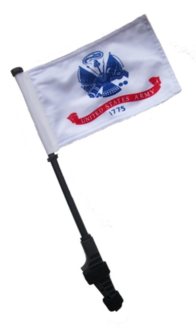 SSP Flags: Small 6x9 inch Golf Cart Flag with EZ On/Off Pole Bracket - Army