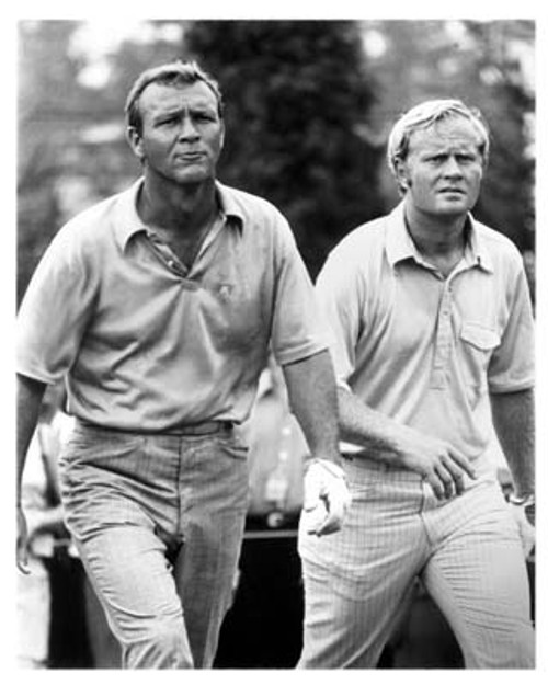 Superstar Greetings: Jack Nicklaus and Arnold Palmer Unsigned 16x20 Photo UJNI-16b
