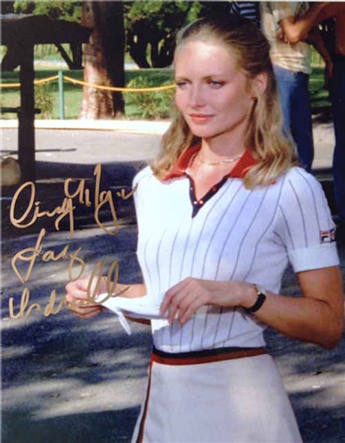 """Cindy Morgan """"Lacey Underall"""" Signed 8x10 Caddyshack Color Photo"""