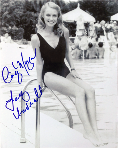 """Cindy Morgan """"Lacey Underall"""" Signed 8x10 Caddyshack B & W Photo - Pool Side"""