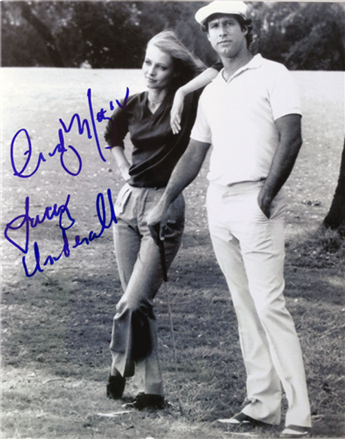 """Cindy Morgan """"Lacey Underall"""" Signed 8x10 Caddyshack Photo - Lacey & Ty Webb"""
