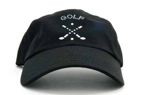 Dolly Mama: Ladies Baseball Hat - Cross Clubs on Black