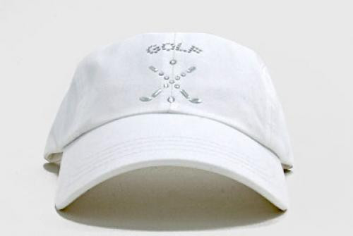 Dolly Mama: Ladies Baseball Hat - Cross Clubs on White