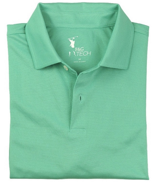 Fairway & Greene: Men's Solid Tech Pique Polo