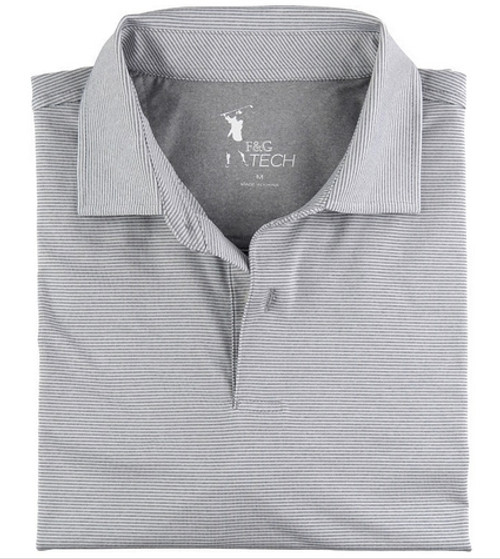 Fairway & Greene: Men's Mini Stripe Tech Jersey Polo