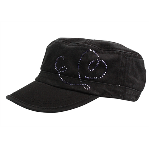 Dolly Mama: Ladies Fidel Military Cap - Dolly Mama Logo