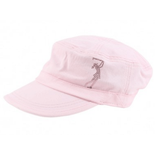 866fed00357 Ladies Military Cap - Golf Girl on Black by Dolly Mama