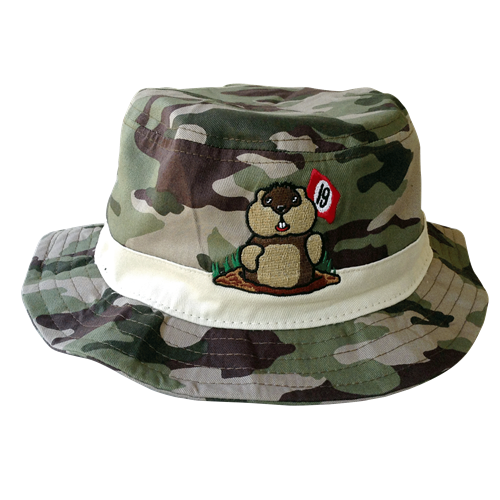 19th Hole Dancing Gopher Camo Bucket Hat by ReadyGOLF (Pre-Order)