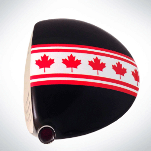 ClubCrown Stripes: Removable Driver Decal - Canada