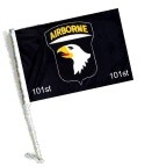 SSP Flags: Car Flag with Pole - 101 AIRBORNE