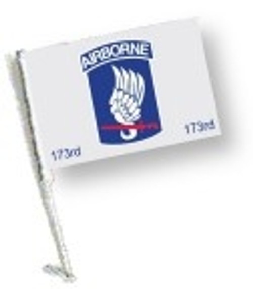SSP Flags: Car Flag with Pole - 173 Airborne