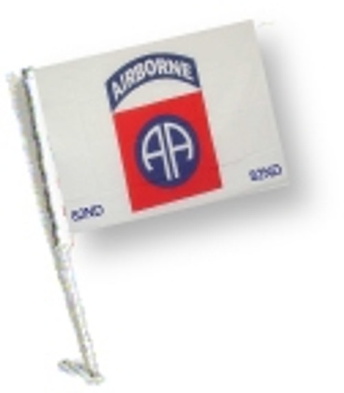 SSP Flags: Car Flag with Pole - 82 Airborne