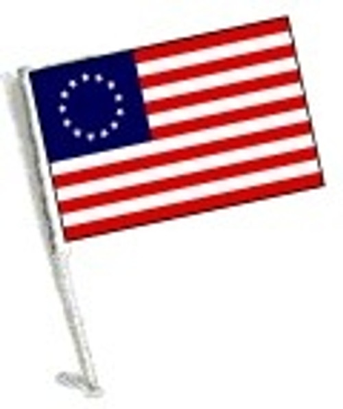 SSP Flags: Car Flag with Pole - Betsy Ross