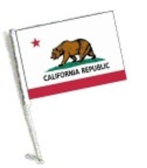 SSP Flags: Car Flag with Pole - State of California