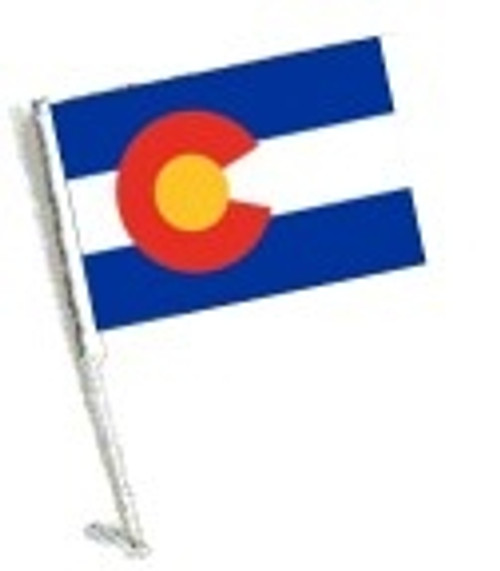 SSP Flags: Car Flag with Pole - State of Colorado
