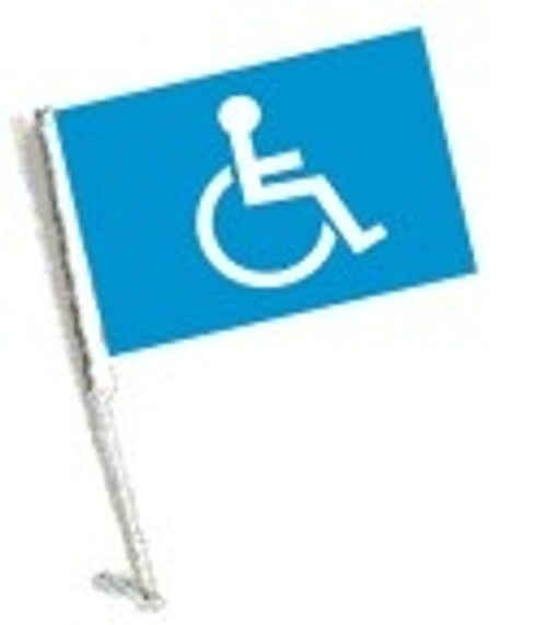 SSP Flags: Car Flag with Pole - Handicap