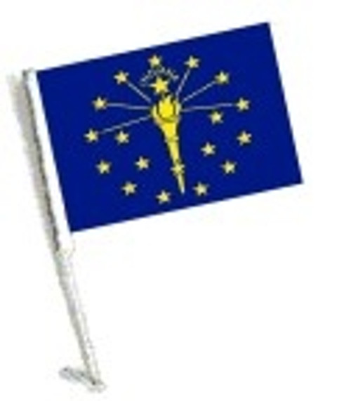 SSP Flags: Car Flag with Pole - State of Indiana