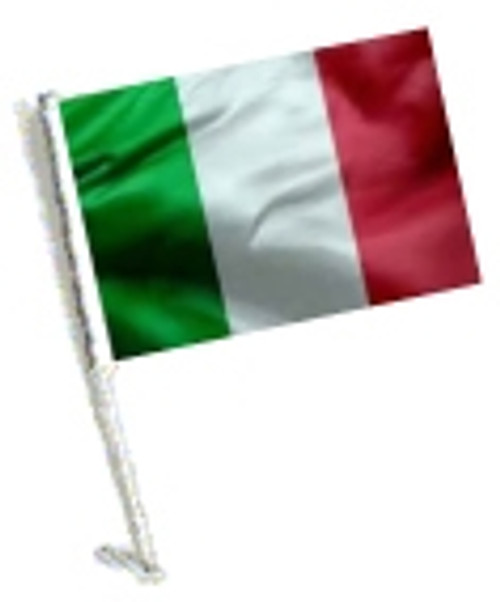 SSP Flags: Car Flag with Pole - Italy