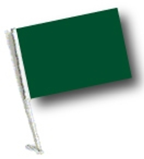 SSP Flags: Car Flag with Pole - Green