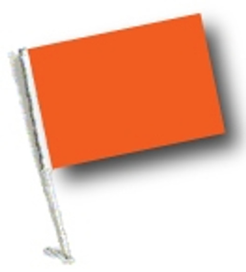 SSP Flags: Car Flag with Pole - Orange
