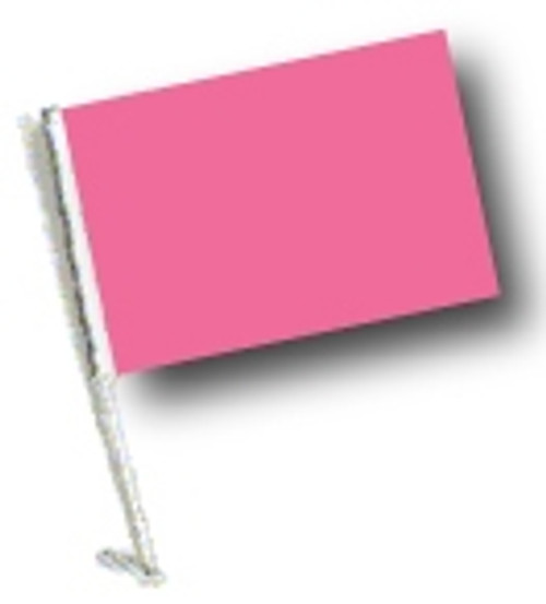 SSP Flags: Car Flag with Pole - Pink