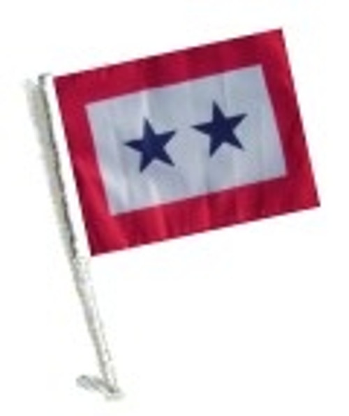 SSP Flags: Car Flag with Pole - Two Blue Star