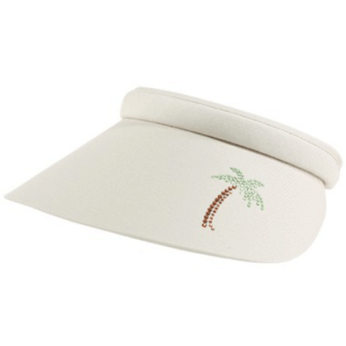 Dolly Mama Ladies Full Clip-On Visor - Palm Tree