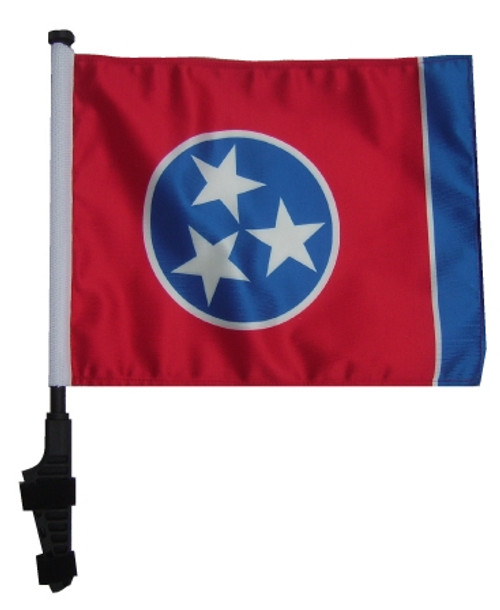 SSP Flags: 11x15 inch Golf Cart Flag with Pole - Tennessee
