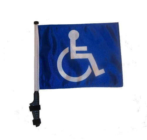 SSP Flags: 11x15 inch Golf Cart Flag with Pole - Handicap