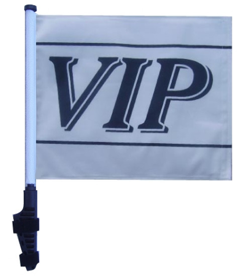 SSP Flags: 11x15 inch Golf Cart Flag with Pole - VIP