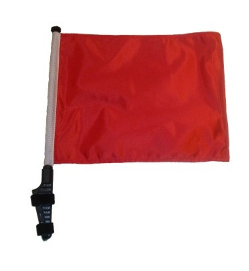 SSP Flags: 11x15 inch Golf Cart Flag with Pole - Red