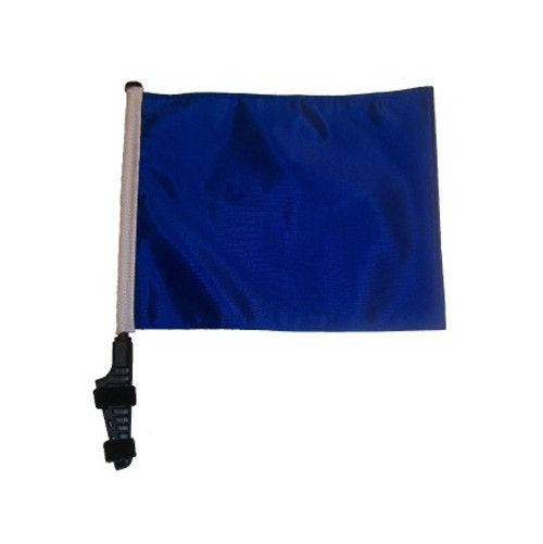 SSP Flags: 11x15 inch Golf Cart Flag with Pole - Blue