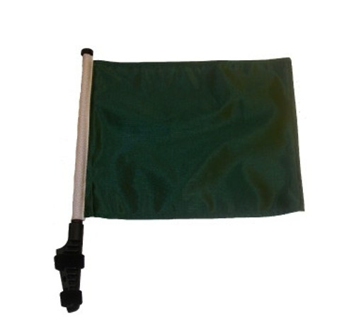 SSP Flags: 11x15 inch Golf Cart Flag with Pole - Green