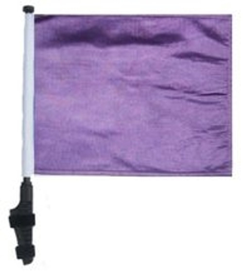 SSP Flags: 11x15 inch Golf Cart Flag with Pole - Purple