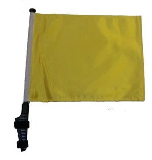 SSP Flags: 11x15 inch Golf Cart Flag with Pole - Yellow