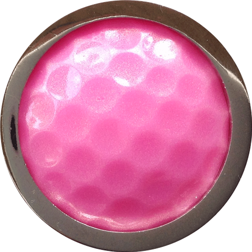 ReadyGolf: Golf Ball Skins Ball Marker & Hat Clip - Pink