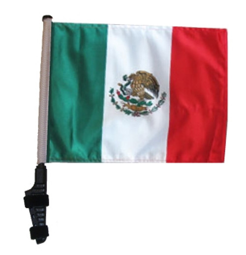 SSP Flags: 11x15 inch Golf Cart Flag with Pole - Mexico