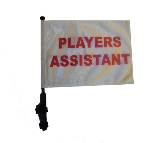 SSP Flags: 11x15 inch Golf Cart Flag with Pole - Players Assistant